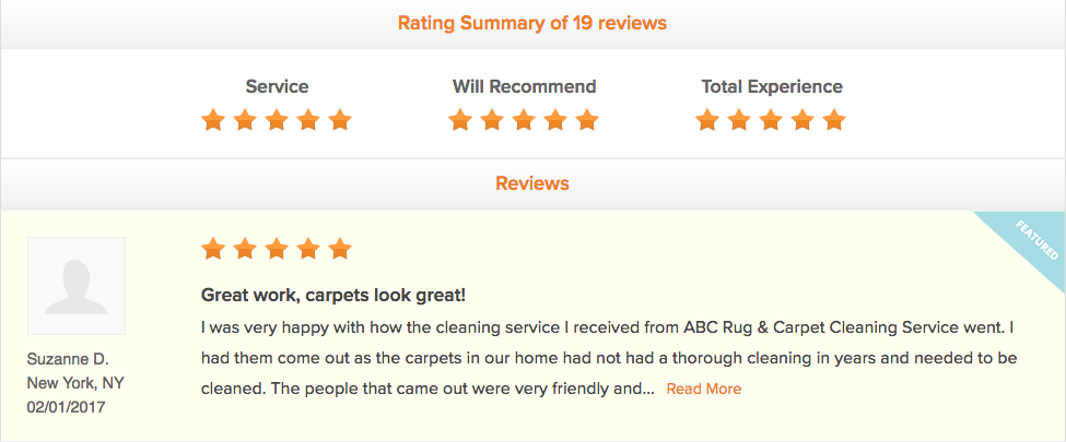 Five Star Reviews From Satisfied Customers